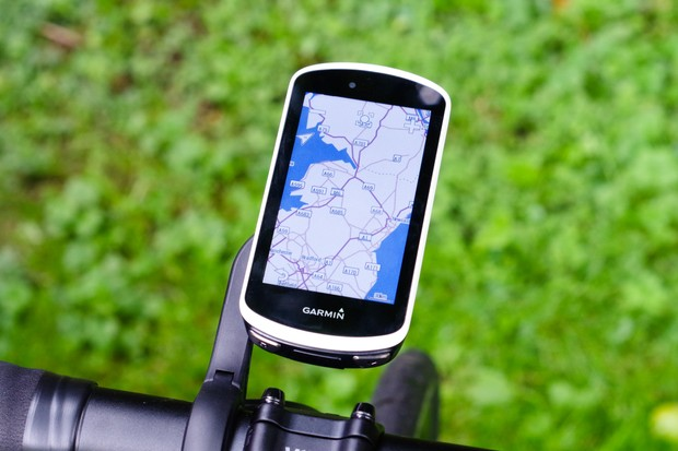 Large GPS bike computer with map on screen