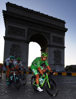 Sagan didn't win on the Champs-Élysées — that honour went to Caleb Ewan — but his green jersey victory was already secure