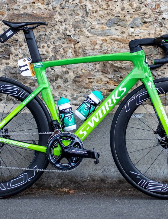 Green Tour de France race bike