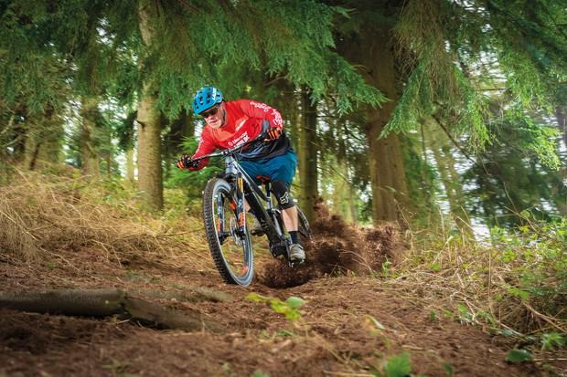 Cyclist riding Lapierre eZesty AM LTD Ultimate