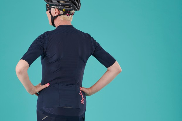 Back view of the Rapha Women's Souplesse Aero cycling jersey