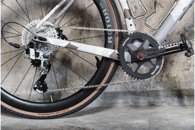 Hydraulic groupset on gravel bike