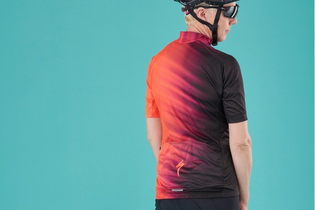 Back of women's Specialized Pro SL short sleeved jersey