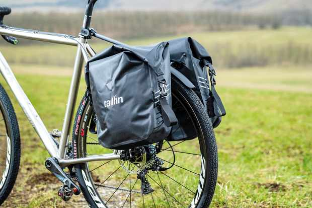 Tailfin Luggage System on road bike