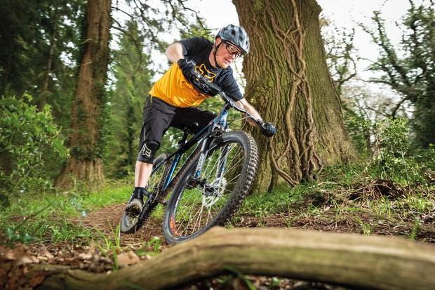 Cyclist riding Vitus Nucleus 27 VRX