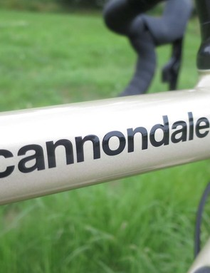 cannondale graphics on road bike