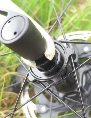 thru axel on road bike