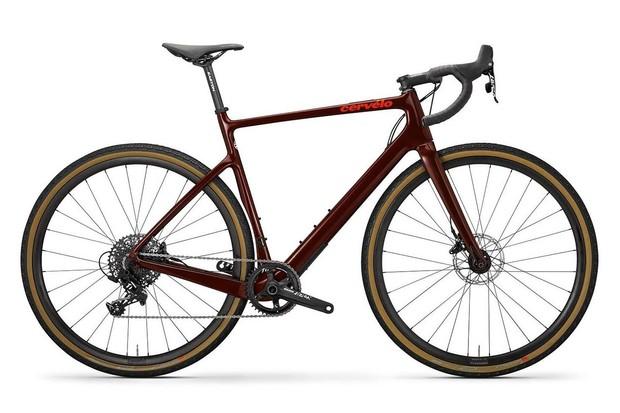 Burgundy gravel road bike
