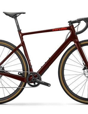 Burgundy gravel road bike