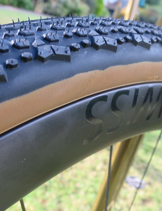 Donnelly X'Plor tyre on gravel bike