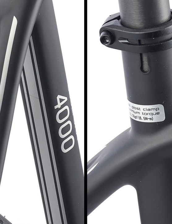 seatstays meeting flat top tube on Merida Scultura 4000 Disc