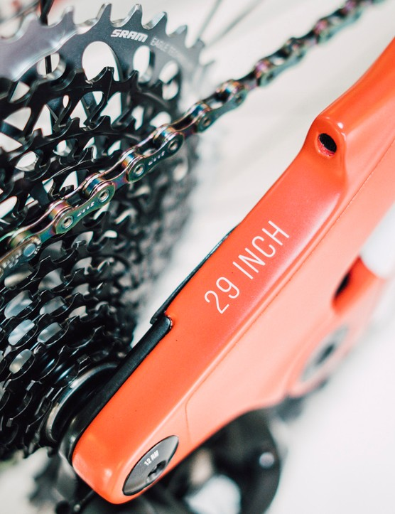 The SRAM AXS cassette and chain just look good