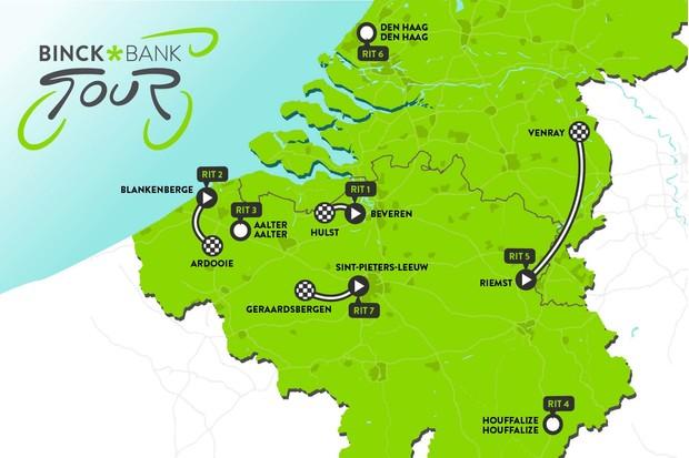 BinckBank Tour 2019 route map