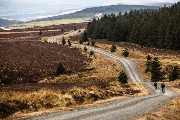 Kielder Forest is open to the public and anyone could ride a Dirty Reiver-like route any time they wished