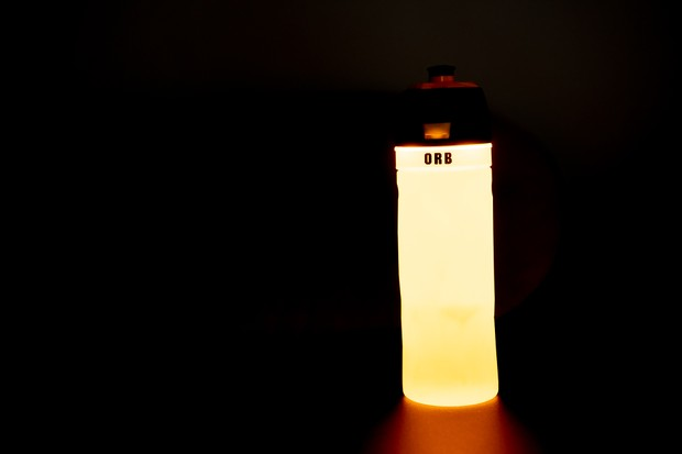 Orb bike bottle and light