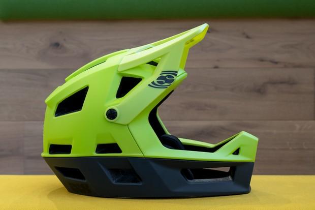 IXS Trigger FF full-face helmet in green/black