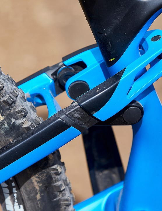 pivot bearing blue full suspension mountain bike