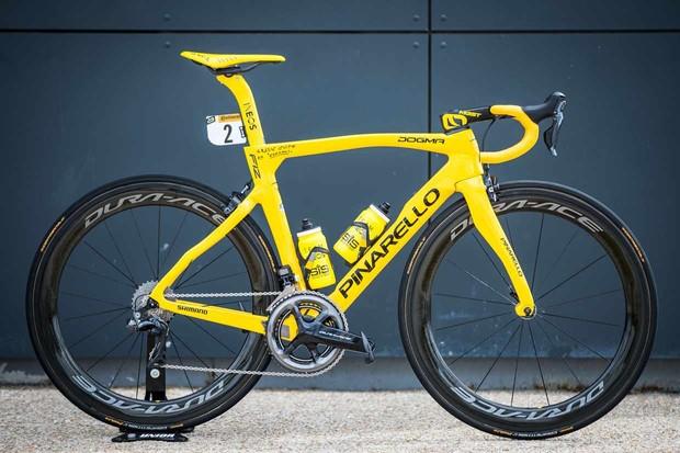 Egan Bernal Tour de France yellow Pinarello Dogma F12