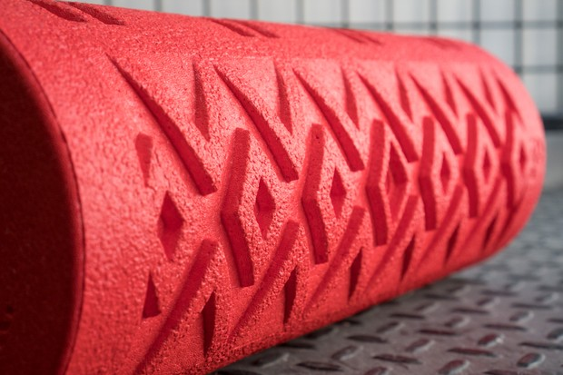 Close-up of texture foam roller