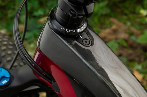Trek mountain bike Knock Block system
