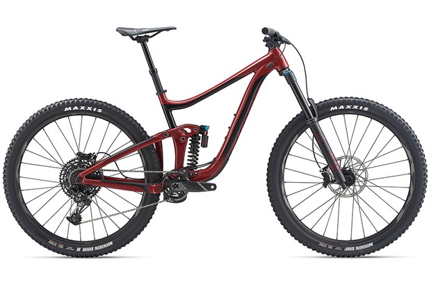Reign SX 29 has a coil shock and Giant says it is happy in the bike park