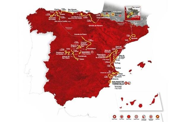 La Vuelta a España 2019 route map