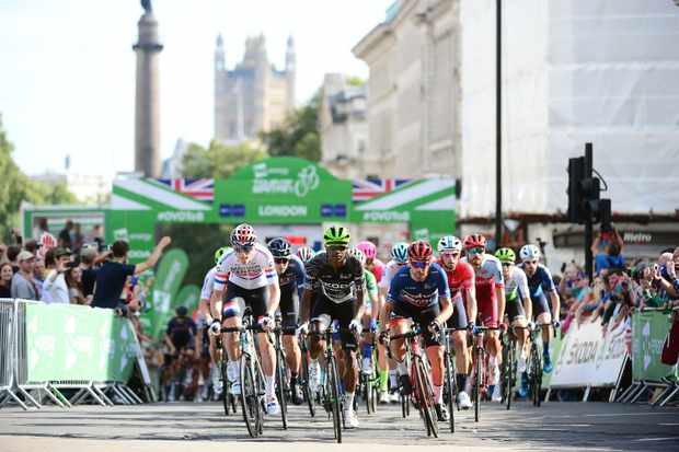 OVO Energy Tour of Britain 2018 Stage 8 London Connor Swift Nic Dlamini
