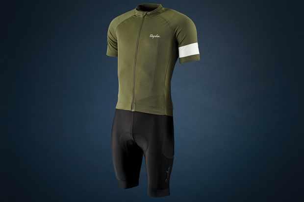Rapha Core jersey and Cargo bib shorts