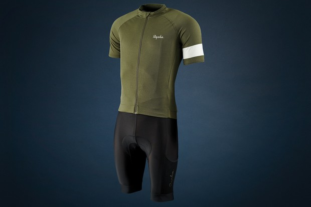 Rapha Core jersey and Cargo bib shorts