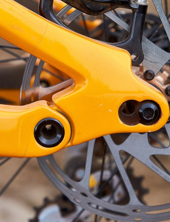 chain stay length adjustor on full suspension mountain bike