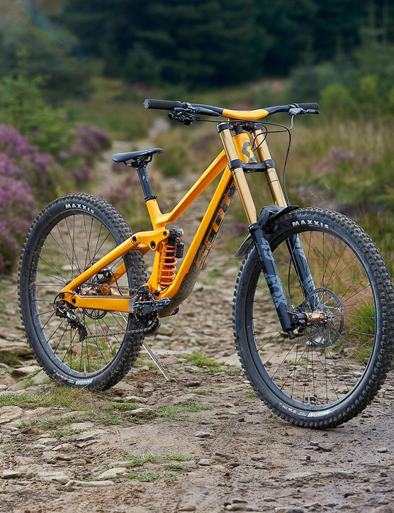 orange scott full suspension mountain bike