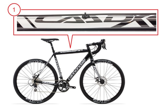 Cannondale CAADX recall top tube details