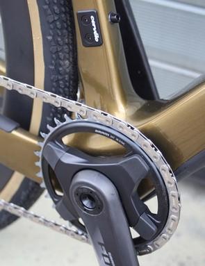force axs gears of gold coloured cervelo aspero road bike