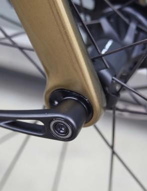 fork gold coloured cervelo aspero road bike
