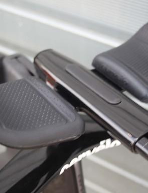 extension bars on a black cervelo p5 TT bike