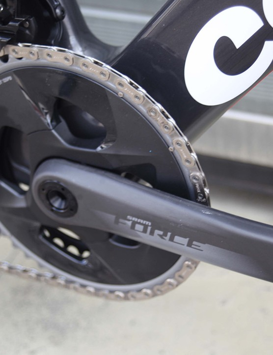 sram force chainset on cervelo s3 road bike