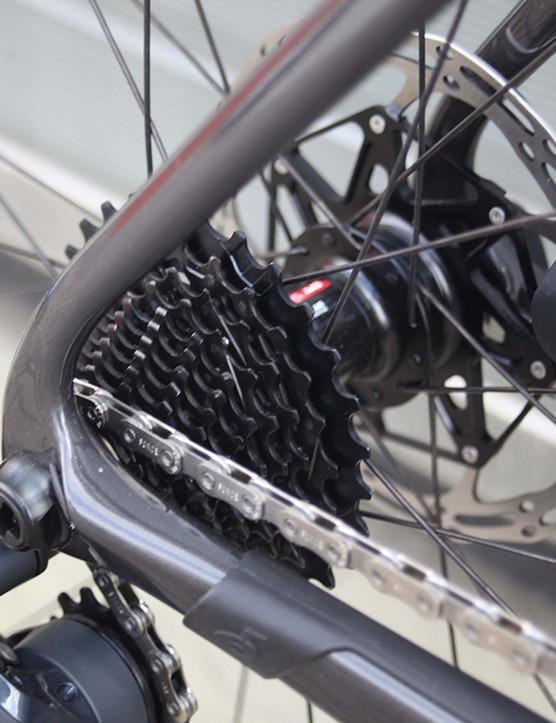 thru axel system on cervelo s3 road bike