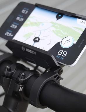 smart phone dock on road bike