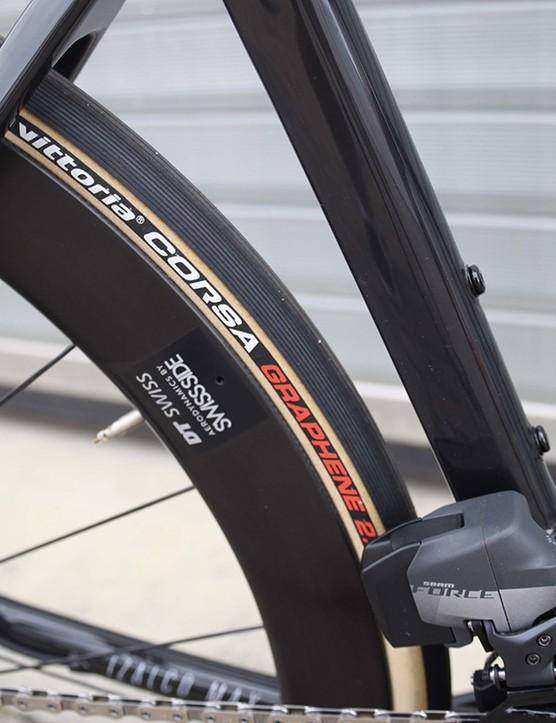 skinwall tyre on focus road bike