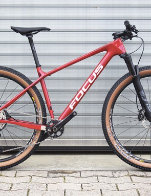 red hardtail mountain bike