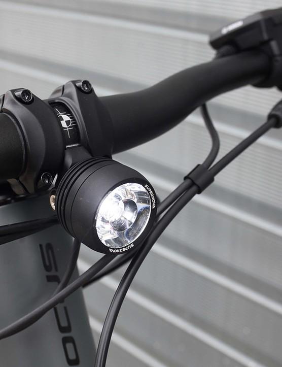 Supernova front light on focus 6.8 EQP full suspension mountain bike