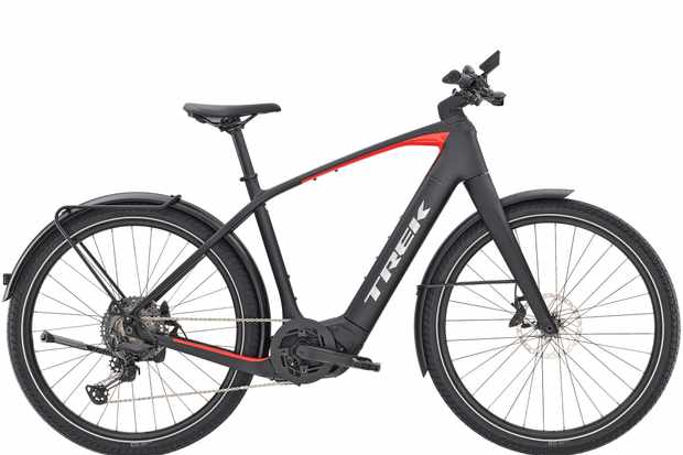 Side on view of Trek Allant+ 9.9 electric bike