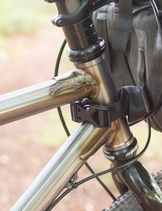 Headtube welds on steel mountain bike