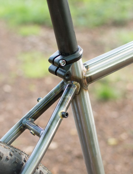 Seat cluster of steel mountain bike