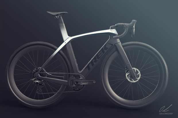 Render of aero gravel concept bike