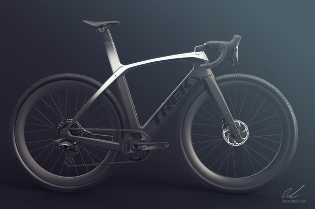 Render of aero gravel concept bike