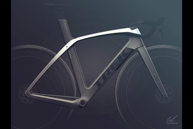Render of concept aero gravel frame