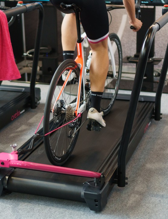 bike on treadmill