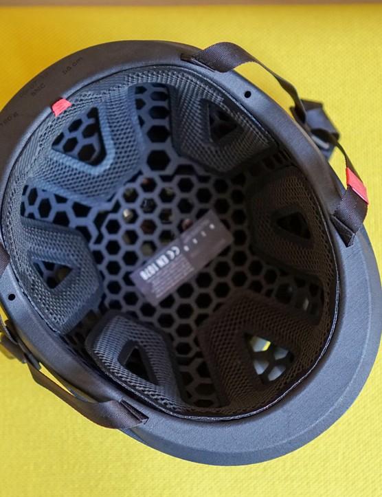 Hexr 3D printed helmet interior