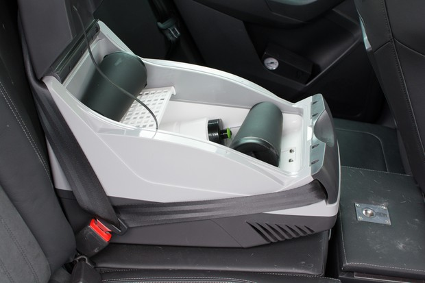 Drinks cooler on car seat